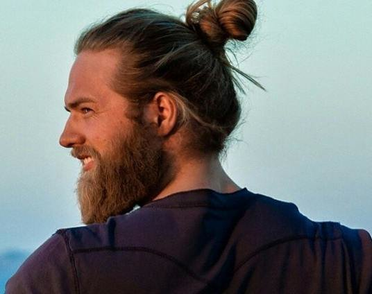 Mens style the beard bun the male grooming review allows most men to get away with just about anything and from looking at one of the most popular trends this year that includes wearing a ponytail urmus Gallery