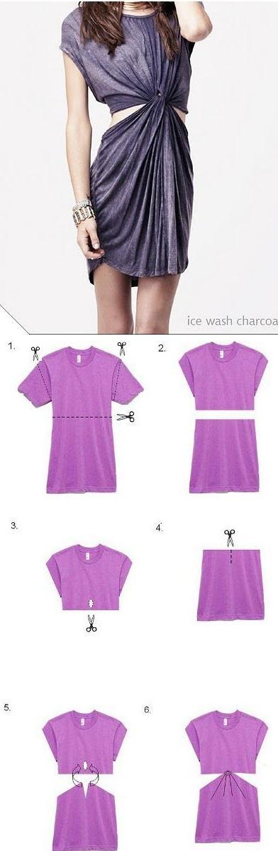 diy : shirt dress