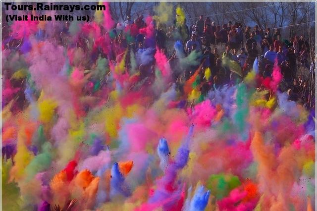 Holi festival India. Visit India