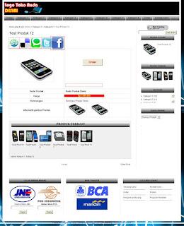 Halaman produk template Toko Online Special