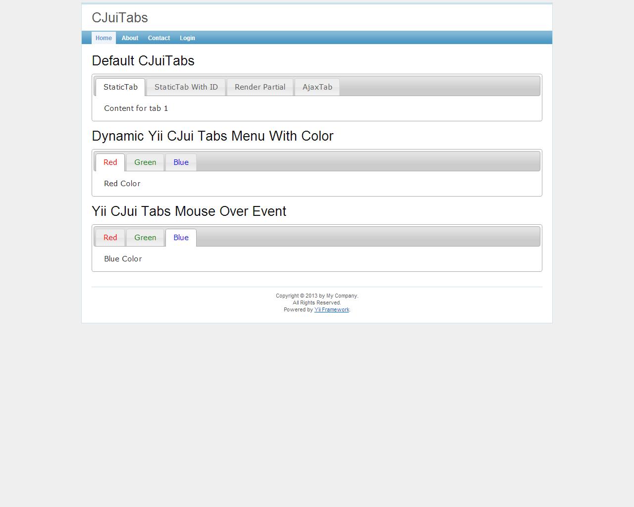 How To Handle CJuiTabs in Yii | BSOURCECODE