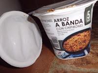 arroz a banda con chipirones