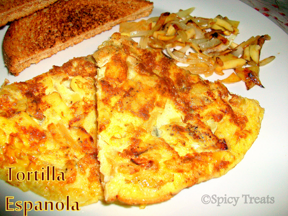 Spicy Treats: Tortilla Espanola - Spanish Omelet
