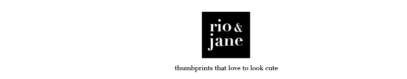 RIO & JANE :: Thumbprints That Love To Look Cute