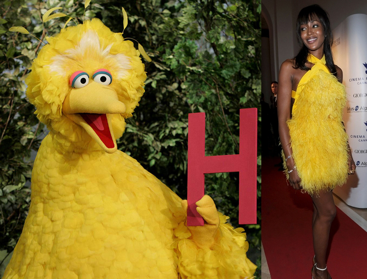 Naomi Campbell Big Bird