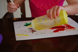 Preschoolers and toddlers will enjoy the sensory fun of this project