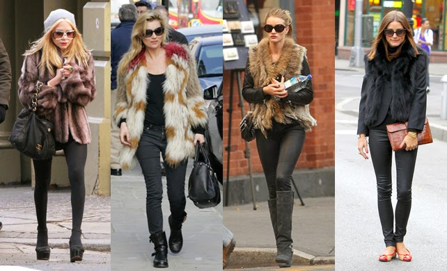 Looks com casacos de pêlo fake