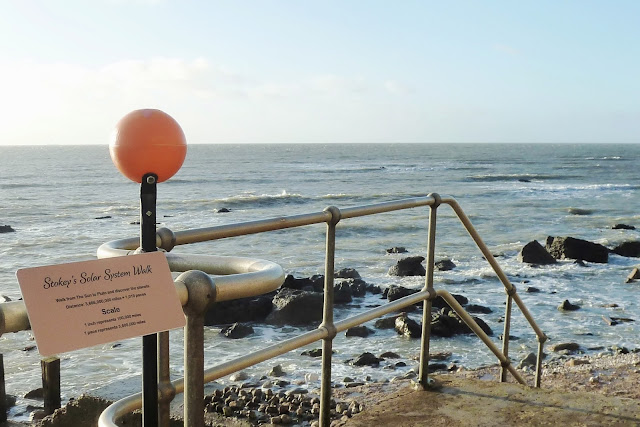 Stokey's Solar System Walk in Ventnor with model of the Sun