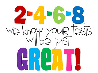 Punchy image pertaining to encouraging notes for students during testing printable