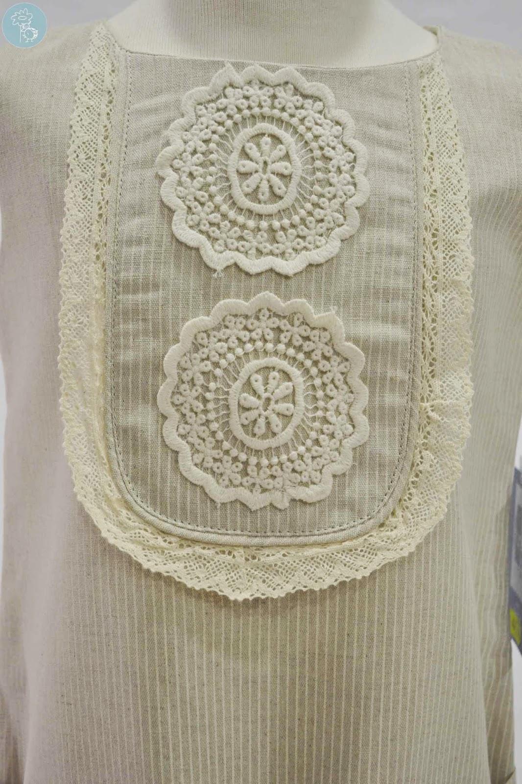Detalle vestido Babiné en Tienda -Blog- Retamalmodainfantil