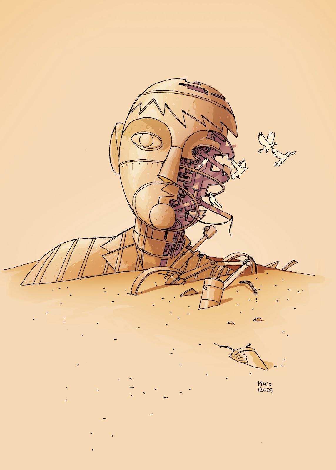 Dibujo del personaje de Paco Roca, autor de 'Arrugas', en su cómic 'Memorias de un hombre en pijama'. Revista Making Of