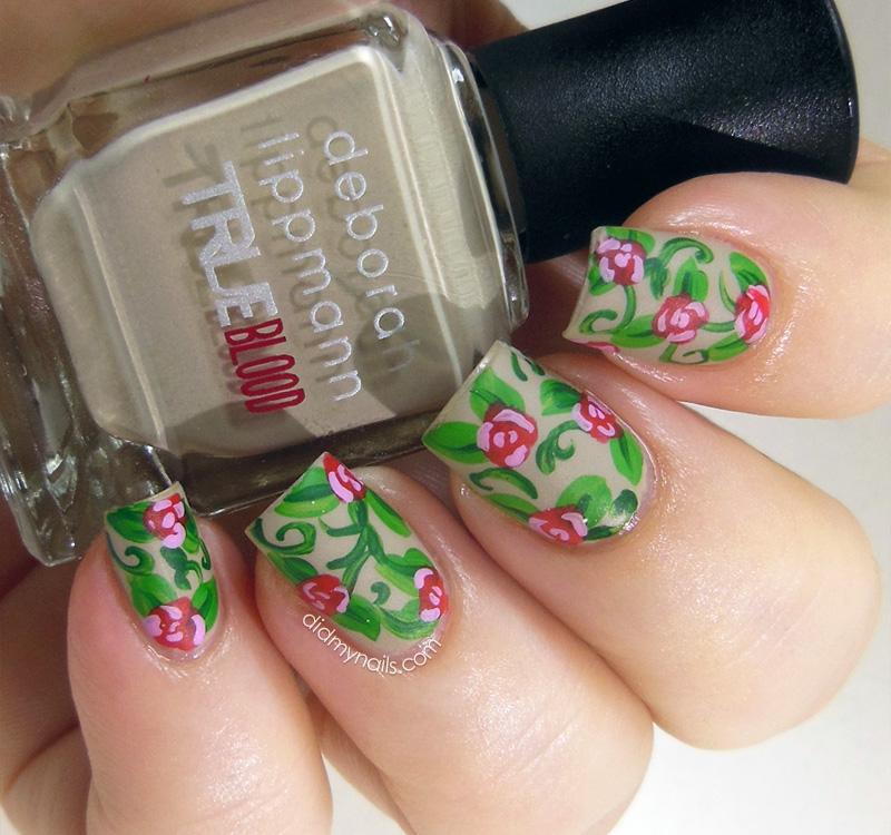 nail art roses