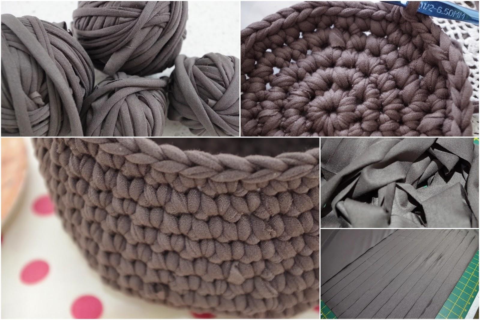 Poppy Street Spaghetti Yarn Baskets Crochet