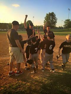 9-8 victory celebration