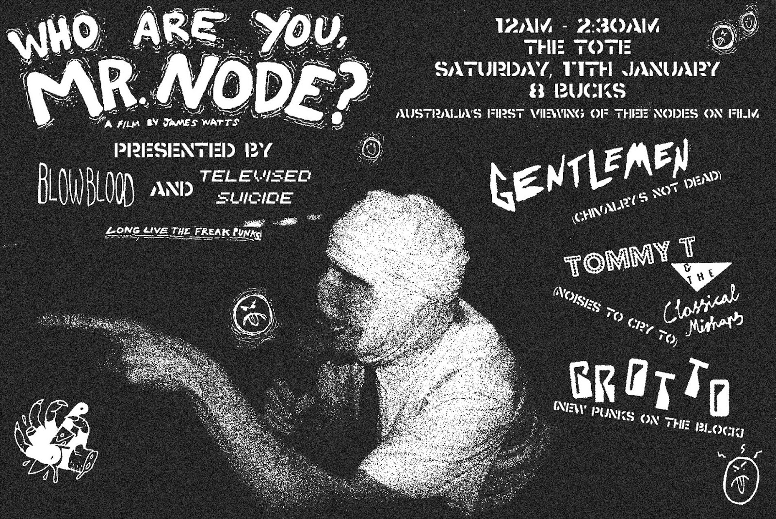 Who Are You Mr Node Montreals Now Defunct Freax Punks THEE NODES Made A Movie And It Was Organised To Screen In Melbourne Midnight Saturday 17th January