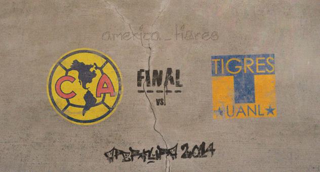 Poster oficial de la Liga MX: Final del torneo Apertura 2014 - América vs. Tigres | Ximinia