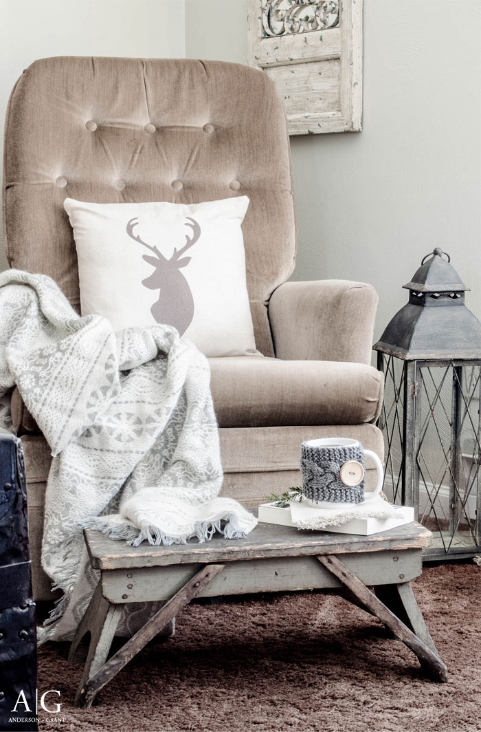 A cozy place to sit during the cold winter months.  |  www.andersonandgrant.com
