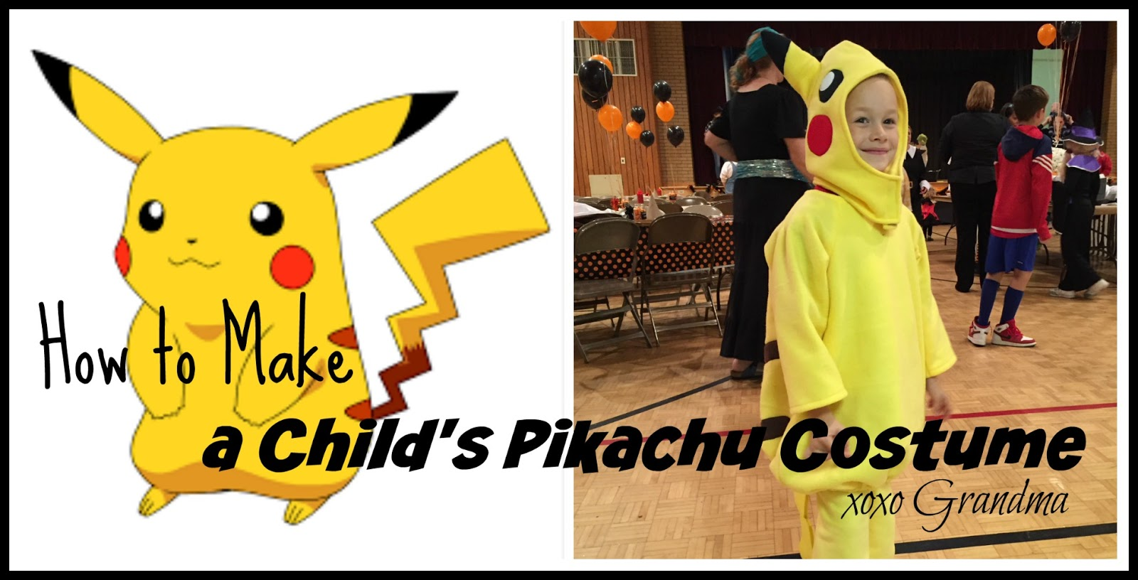 xoxo grandma: how to make a child's pikachu costume
