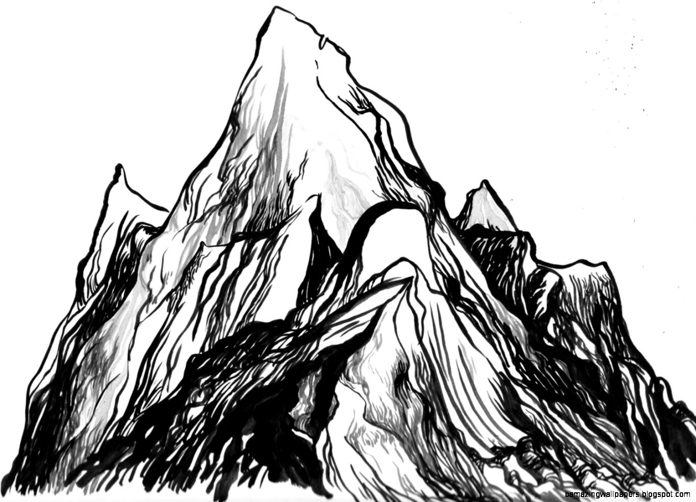 Mountain Drawing | Amazing Wallpapers