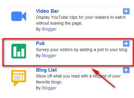 poll gadget for blogger blog