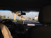 Driving the 'trunk' of the Palm with Atlantis Dubai in the distance. (img )