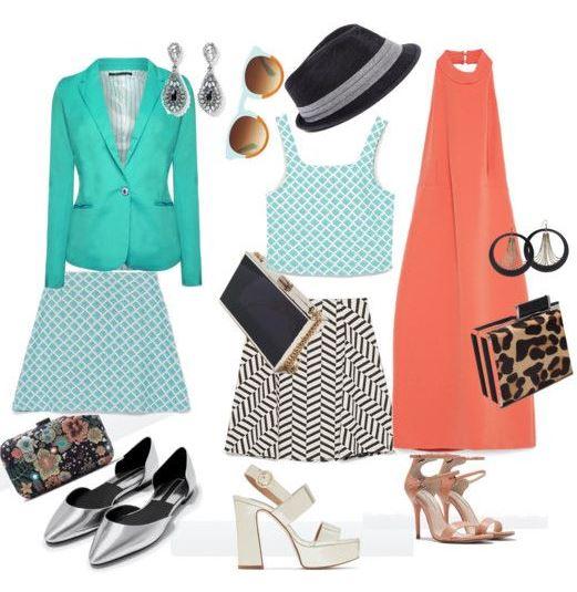 Moda - Estilo clássico, sapatos metalizados da zara, vestido rosa, saia branca