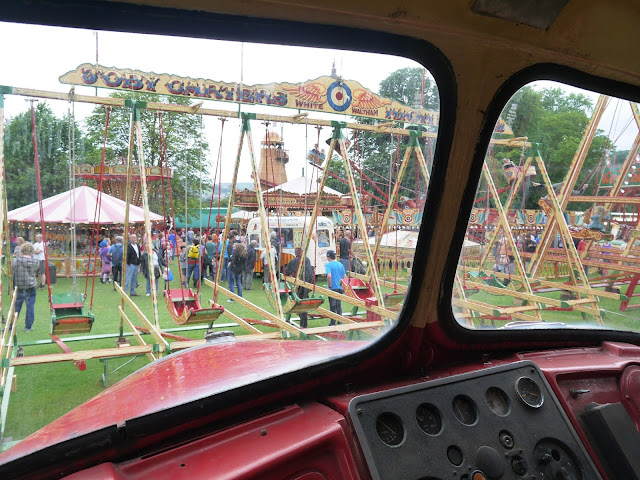 Carters Steam Fair as seen from a Scammell cab