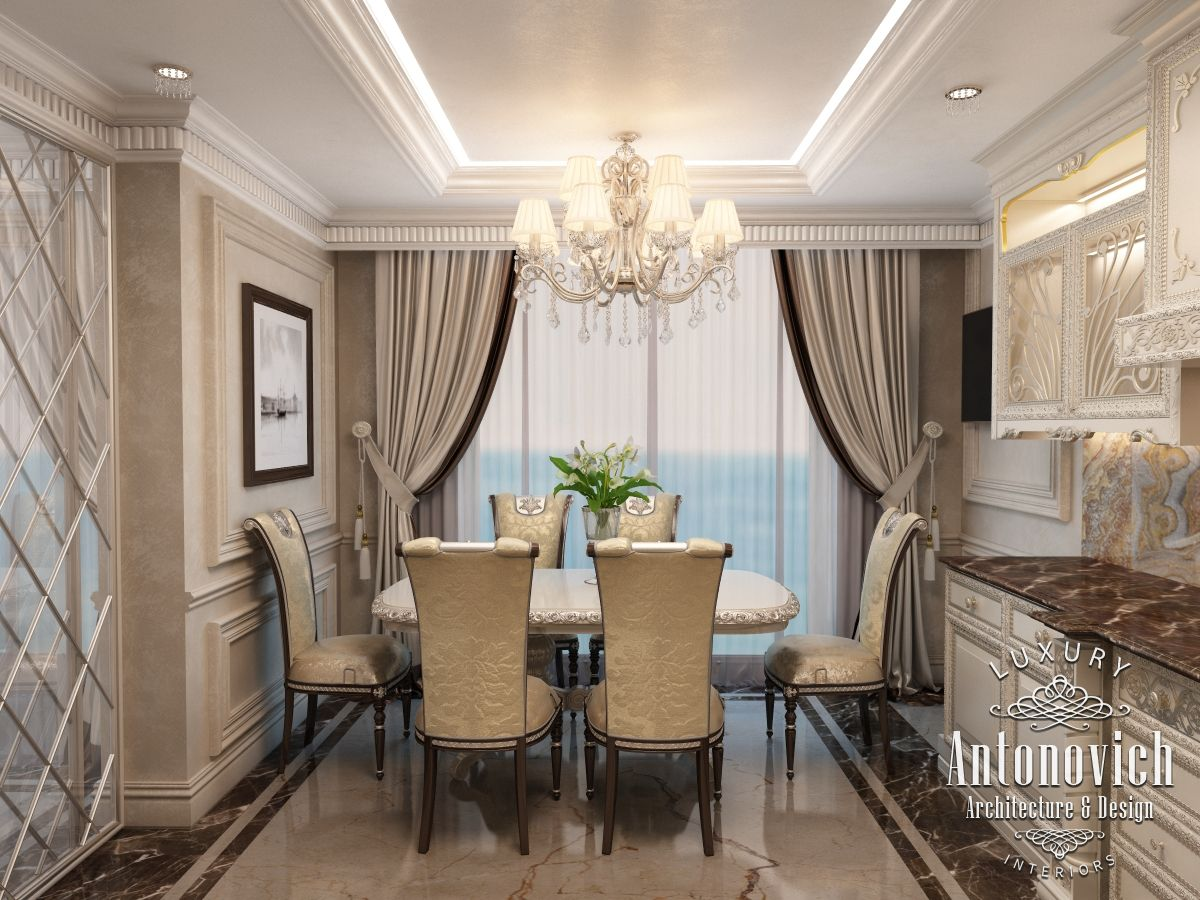Kitchen design has become a harmonious continuation of the luxurious and comfortable apartment interior in dubai