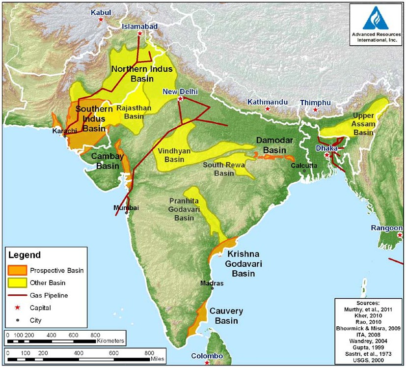 Image result for India shale basins