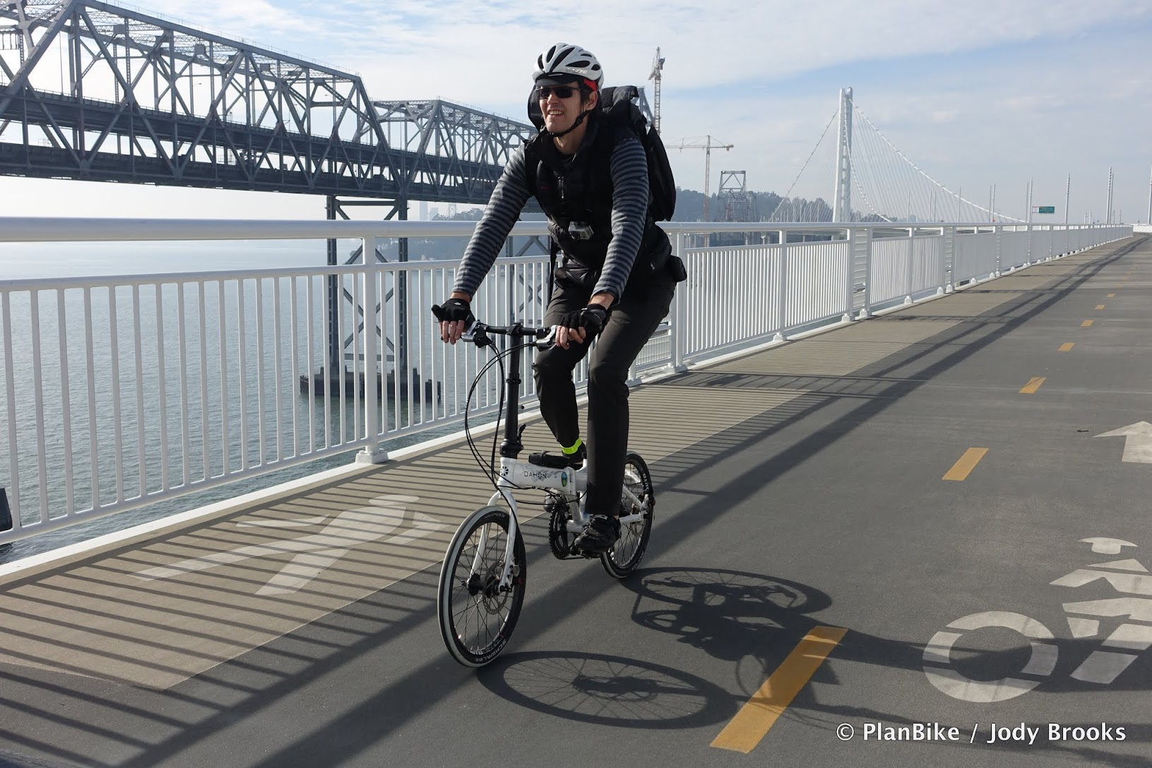 Folding Bike on the Bay Bridge