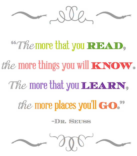 the more you read dr seuss quotes quotesgram