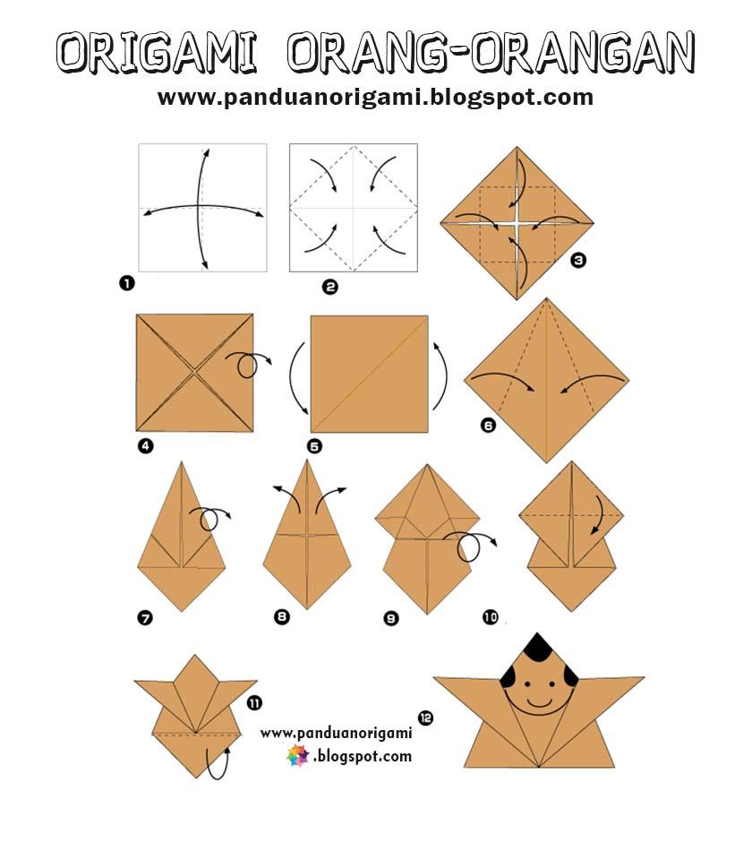 Panduan Membuat Origami Boneka Orang-Orangan - Panduan