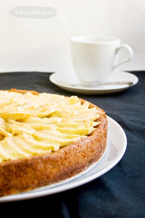 Receta de tarta de manzana tipo pudding