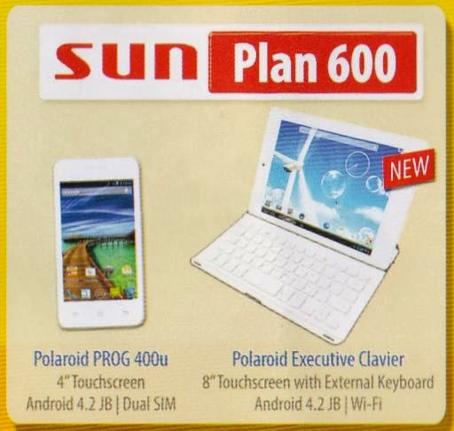 Sundroidrush polaroid prog 400u executive clavier free for Sun mobile plan