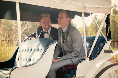 Carriage ride to wedding l My Big Gay Illegal Wedding ACLU Contest l Take the Cake Event Planning