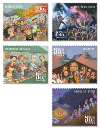 Iceland: Town Festivals - http://stamps.postur.is/