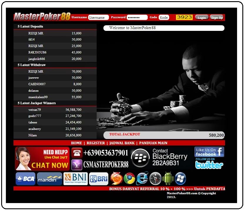 Masterpoker88 - klik Poker