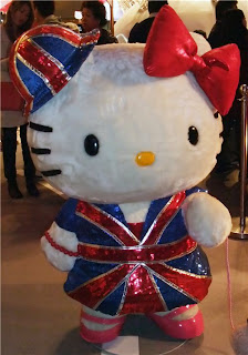 Hello Kitty England Union Jack plush doll soft toy