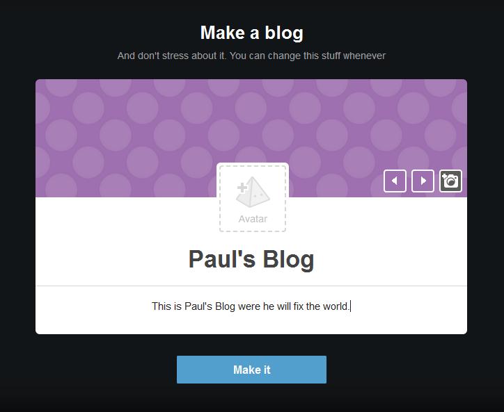 Tumblr Make A Blog Page