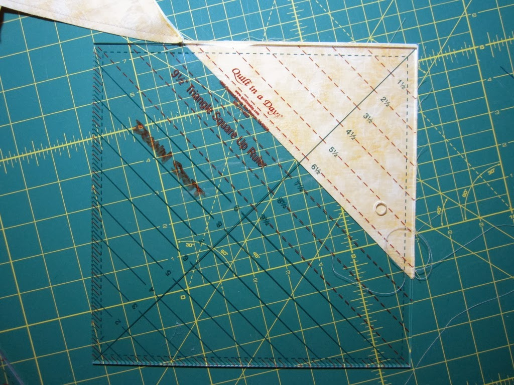 Basically You Stitch Two Triangles Together And While