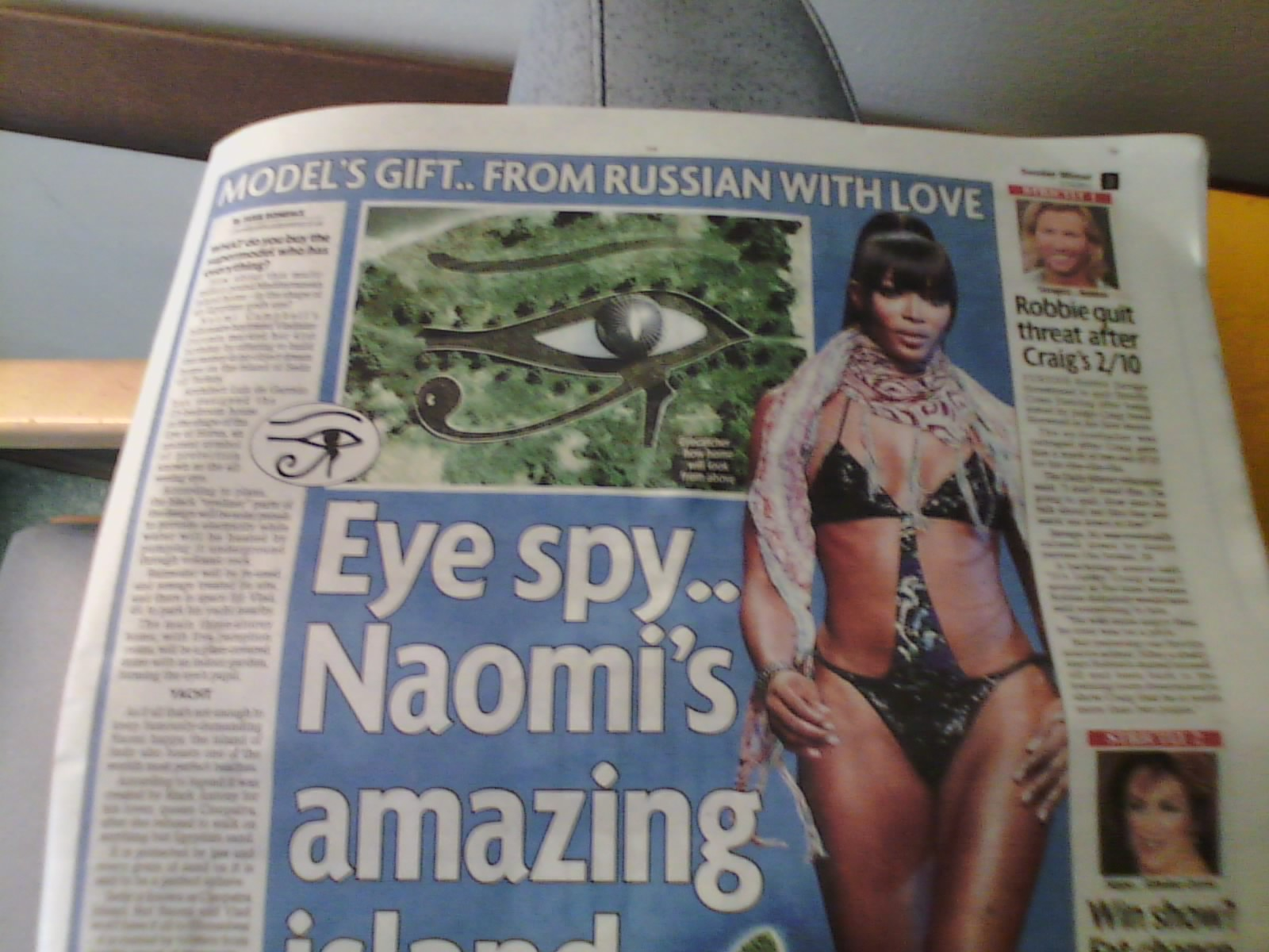 Hpanwo Voice Naomi Campbell 39 S All Seeing Island