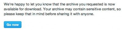 Your Twitter Archive Download Is Ready