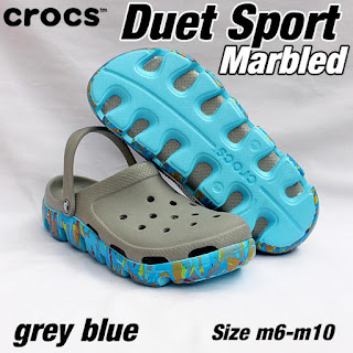 crocs duet sport marbled grey