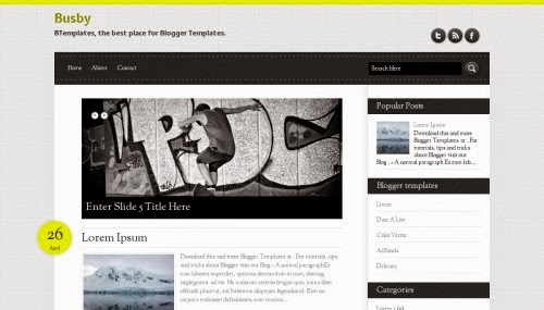 Busby - Free Blogger Template