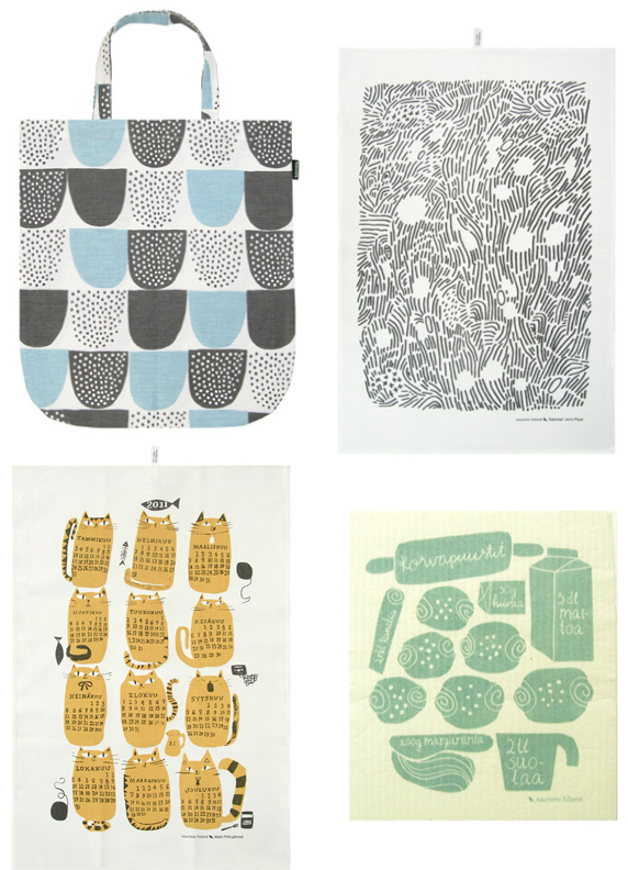 Finnish textile design and prints by Kauniste