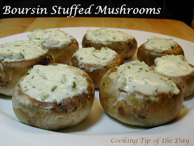 Cooking Tip of the Day: Easy Boursin Stuffed Mushrooms