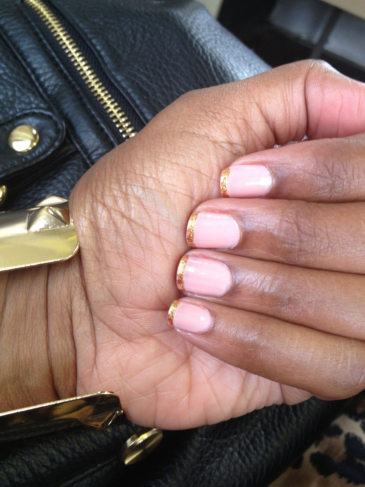 Beauty} Manicure Monday: Gold Tipped French Manicure • Curvatude