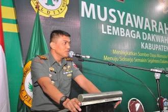 Dandim Sidoarjo: TAK ADA JARAK TNI-LDII, NKRI HARGA MATI