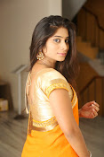 Midhuna New photo session in Saree-thumbnail-14