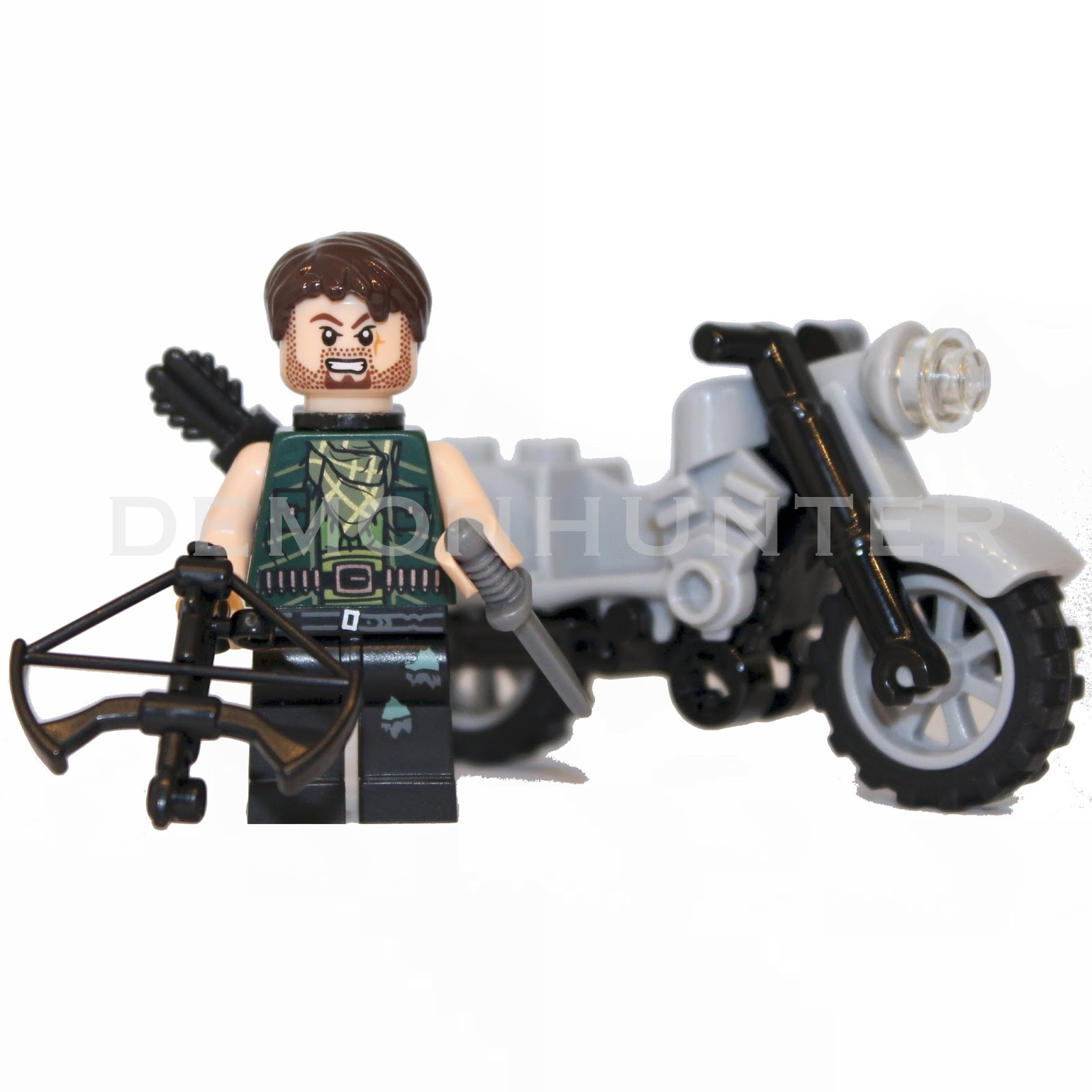 Lego Walking Dead, Lego Daryl The Walking Dead, Custom Lego, Walking Dead Lego, Daryl Dixon, The Walking Dead, Daryl Dixon Lego, Lego Blog